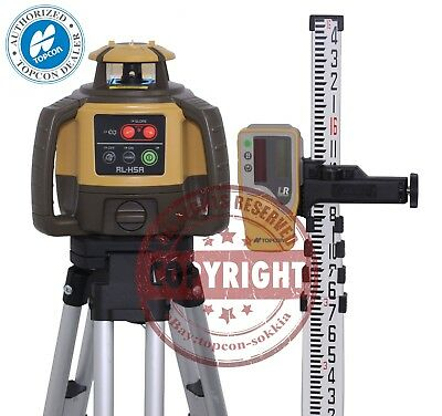 New Topcon Rl-h5a Self-leveling Rotary Slope Laser Level Pkg Grade 16 Ft Inch