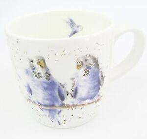Royal Worcester Bugerigar or Budgie Fine Bone China Bird Mug Wrendale Designs