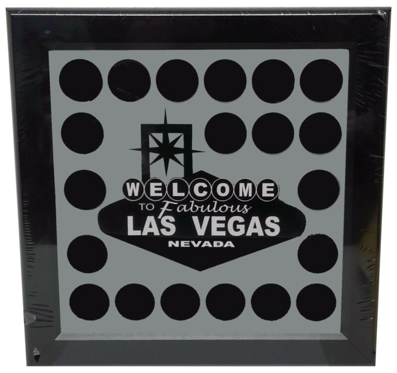 Welcome To Fabulous Las Vegas Chip Frame Holds 20 Chips Collectible or Casino  *