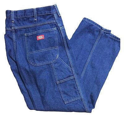 Men/'s Work Pants Cargo Pocket Navy Blue Industrial Uniform Elastic Waist REED