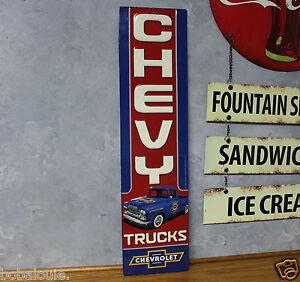 Vintage style Chevy truck EMBOSSED METAL signs repair SHOP GARAGE auto car
