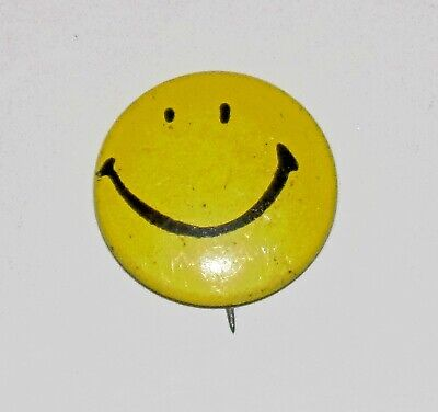 Vintage Original Harvey Ross Ball Smiley Pin State Mutual Insurance 1960s Smile