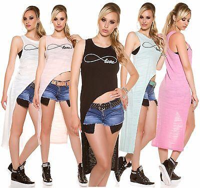 Sexy KouCla HighLow Shirt Oberteil Vokuhila asymmetrisch ärmellos OS 34/36/38 online kaufen