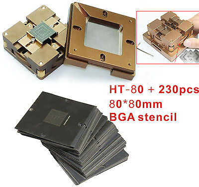 230 Pcs Stencil Bga Chips Repairs Kit Fast Locking Reballing Station Bga Jig