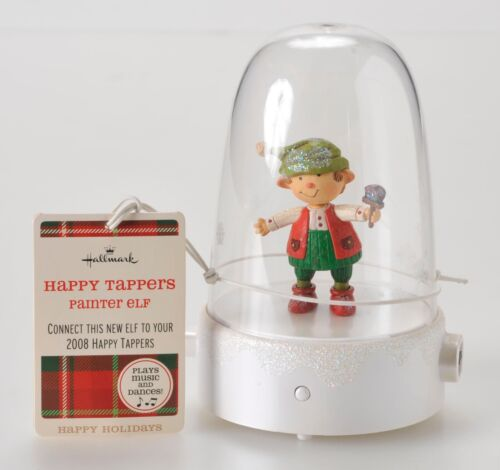 Hallmark Happy Tapper Painter Elf 2009 Paint Brush with Tag Music Motion Rare