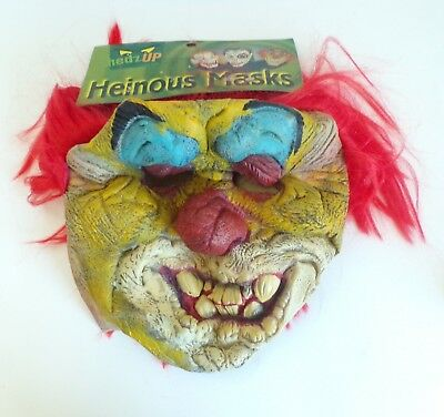 Crazy Halloween Masks (HALLOWEEN Clown Mask Crazy Evil Red Hair Latex Flexible Ages Over 8 to Adult)