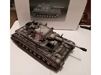 1//30 WW2 German Panzer IV Ausf G with metal track and wheels winter version