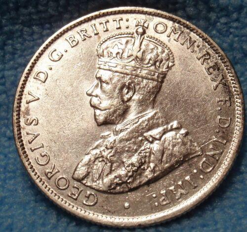 Australia Florin 1931 Silver Coin King George V  Choice Uncirculated-AU/UNC