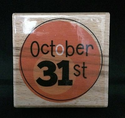 October 31st Halloween Date Mounted Rubber Stamp Studio G Alison Wong