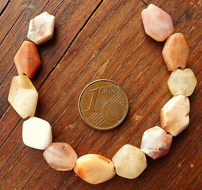 13mm Pearl Antique Africa Ancient Mali Niger African Neolithic Agate Quartz Bead