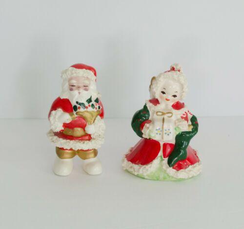Vintage Christmas Angel Santa Spaghetti Trim 1950s Hand painted Japan