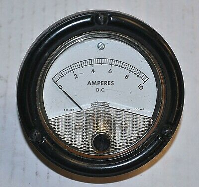 Phaostron Mr36w010dcaar 10 Amp Dc Panel Meter Vintage Industrial Surplus Good