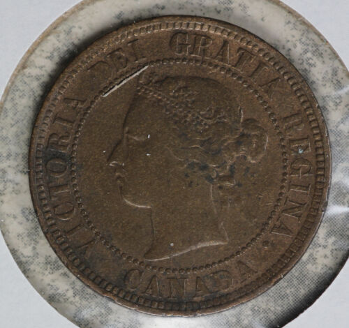 Strong Fine Condition 1886 Canada Large Cent!! C1a Obverse!!