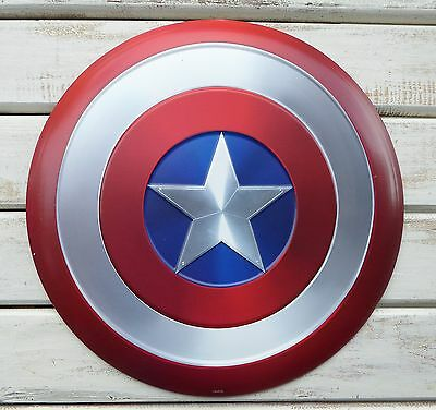 "Marvel Comics 12"" CAPTAIN AMERICA Hero Red White Blue SHIELD Tin METAL SIGN"