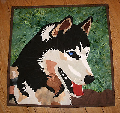 Alaska Malamute Dog wall hanging pattern for no sew or quilt Husky