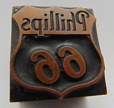 Printing Letterpress Printers Block Phillips 66 Gas Station Logo