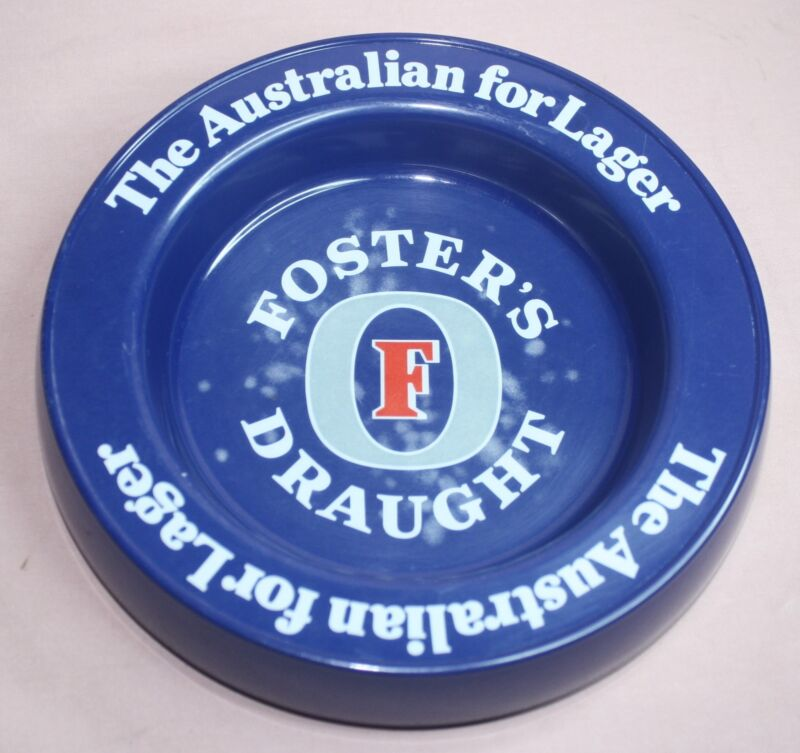 "FOSTER""S DRAUGHT AUSTRALIAN LAGER PUB BEER ASHTRAY"