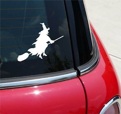 Witch On Broom Witches Halloween Graphic Decal Sticker Car
