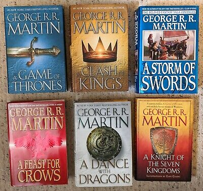 George R. R. Martin = THE SONG OF ICE AND FIRE = complete set = 6 hcdj Game Of