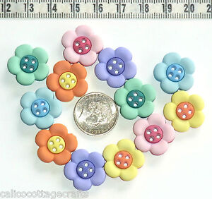 Novelty Buttons Daisy Flowers Embellishment Scrapbook Quilting #18