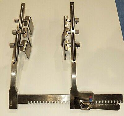 Codman Ankeney Sternal Retractor Set Adult 50-8069 With 6 Codman Swivel Blades