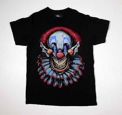 Insane Clown T Shirt Killer Klown Horror Halloween Scary Evil adult MEDIUM (M) (Killer Clowns Halloween)
