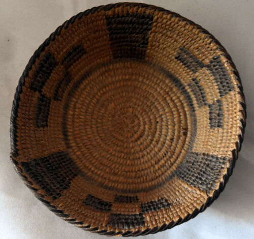 "Antique Native American Pima Basket 5 1/2""X 1 1/2"""