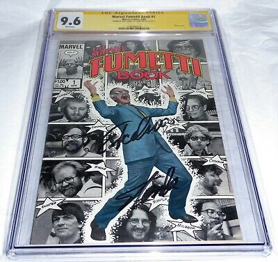 Marvel Fumetti Book #1 CGC SS Signed STAN LEE w/ EXCELSIOR! Photo Cover Comic 💎