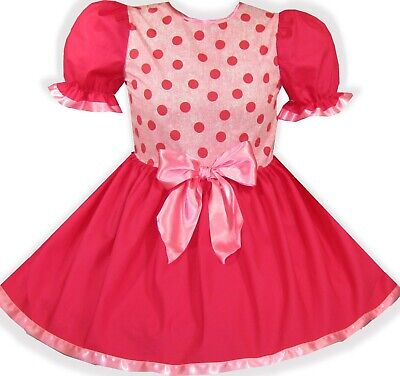 Quick Adult Halloween Costume (READY 2 WEAR | PINK Dots HALLOWEEN Costume Adult Baby Sissy Girl Dress)