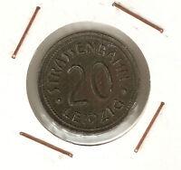 Strassenhbahn Leipzig ( Germany ) : 20 Pfennig ( Iron ) -  - ebay.es