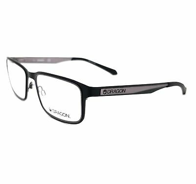 DRAGON Eyeglasses DR177 PAUL 002 Satin Black Rectangle Men 54x18x140