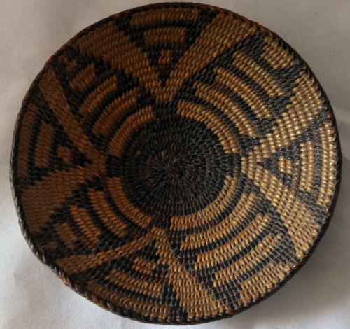 "Antique Native American Pima Basket 6 1/2""X 1 1/4"""