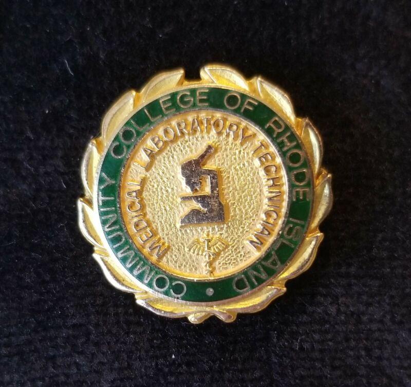Nursing School Pin MEDICAL LABORATORY TECHNICIAN Comm College Rhode Island Gold
