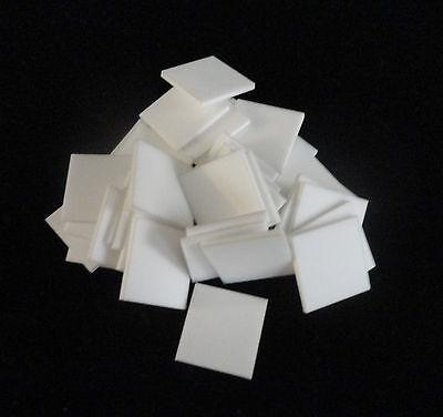 One Lot Of Thirty Six 36 High Purity Alumina Ceramic Substrates Tiles No. 50