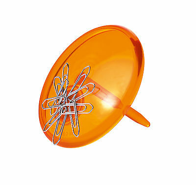 Koziol Pinn Paper Clip Dispenser - Orange - Paper Clip Holder With Magnetism