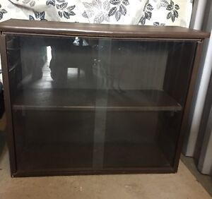 1970's Small Glass Cabinet