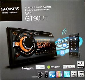 SONY WX-GT90BT 2 Din CD/USB/MP3 Car Stereo Bluetooth Audio System WXGT90BT