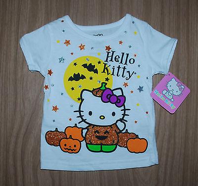 llo Kitty~weiss~Glitter~Halloween~Katze~Kürbis~neu~Mädchen (Kürbisse Halloween-katze)