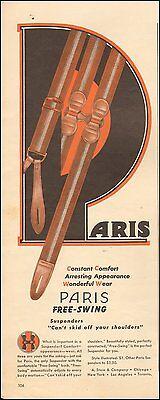 1941-Vintage ad for ARIS Paris  Free-Swing Suspenders`photo (041215)