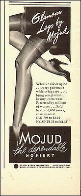 1940-Vintage ad for MOJUD` Hosiery`Art Sexy Legs. (010115)