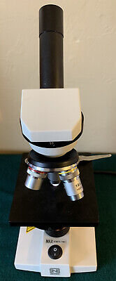 National Optical Model 131 Compound Monocular Microscope Excellent Condition