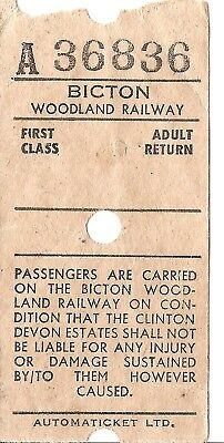 Bicton Woodland Railway Ultimatic Ticket - First Class Adult Return