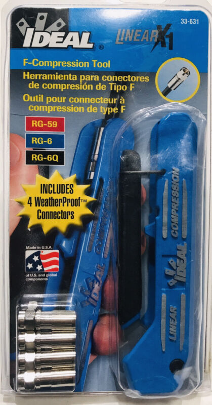 Ideal Linear X1 Compression ToolPro 33-631- New
