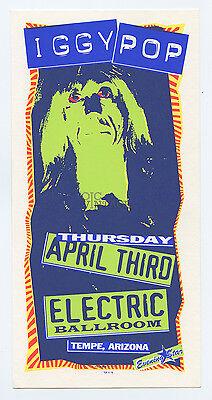 Iggy Pop Handbill 1997 Apr 3 Arizona Electric Ball Room Mark Arminski
