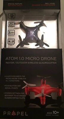 New Atom 1.0 Remote Control Micro Drone Indoor / Outdoor Wireless Quadrocotper