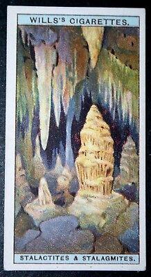 Stalactites & Stalagmites  Original Vintage Colour Card   VGC