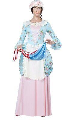 shington Colonial Lady Costume 10 12 M L Women's Reenactment (Betsy Ross Kostüme)