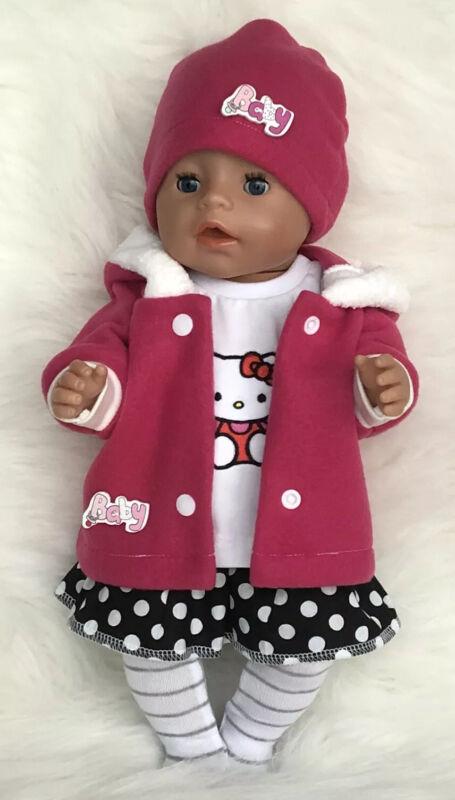 Puppenkleidung für Baby Born 5 tlg.Set. mit 43cm