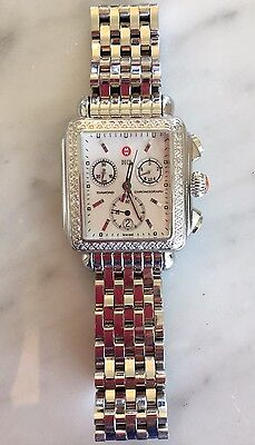 MICHELE DECO CHRONOGRAPH MOTHER OF PEARL DIAMOND STAINLESS STEEL WOMENs WATCH