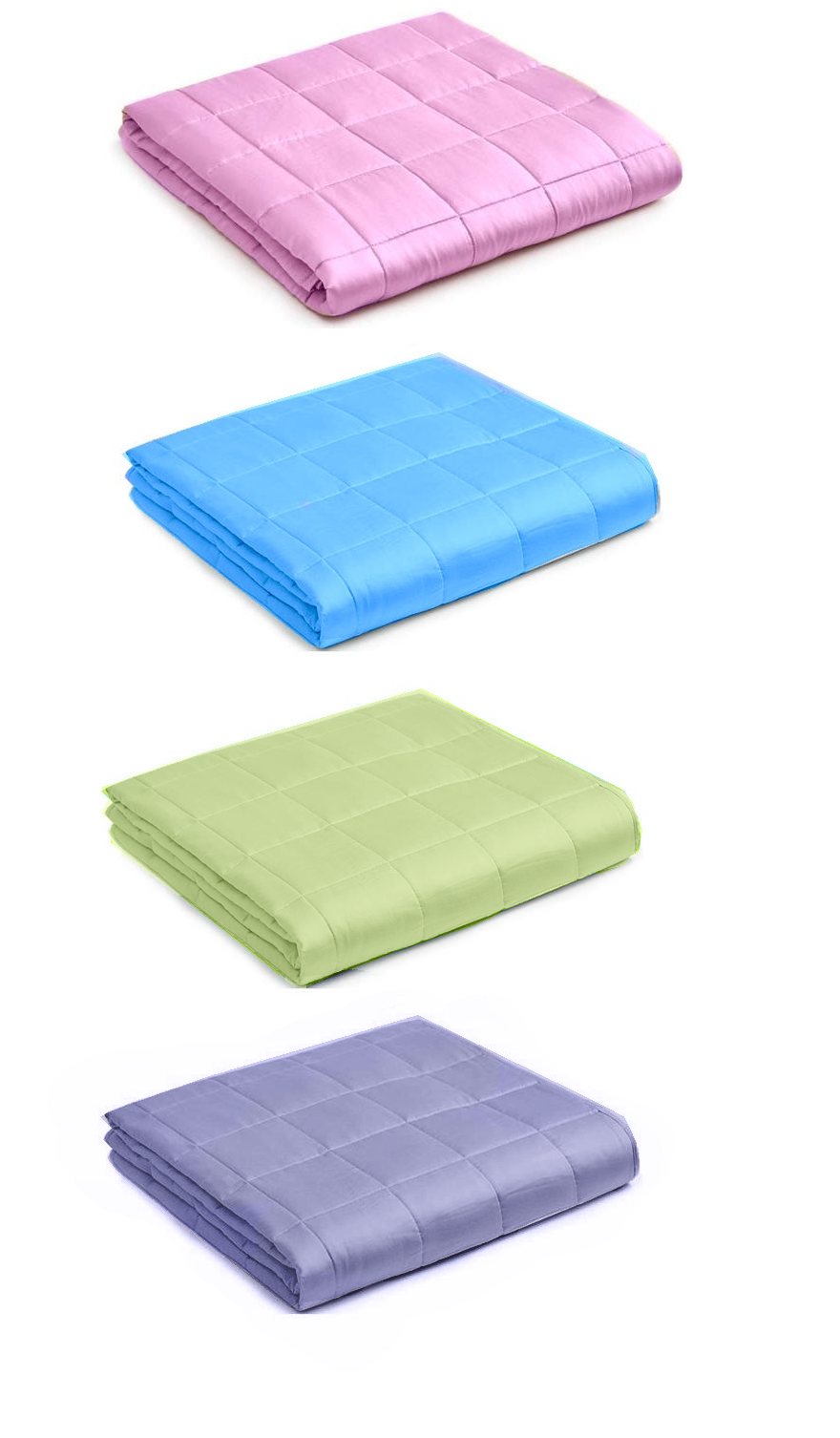 """48x72"""" and 60x80"""" Weighted Blanket for Adults Kids 12 15 20 """